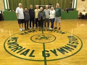 Mike, his mother and siblings at Gym Dedication